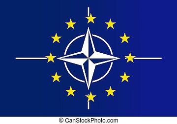 Nato and EU Flag