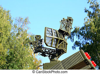 Anti-aircraft defense system - Two containers with missiles...