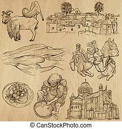 Traveling Algeria - An hand drawn vector pack - From the...