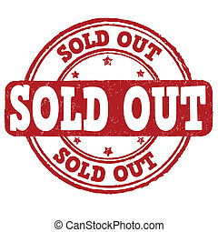 Sold out stamp - Sold out grunge rubber stamp on white...