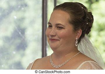 Prewedding Jitters - Headshot of bride who has nervous...