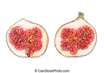Two Halves of a Figs Fruits