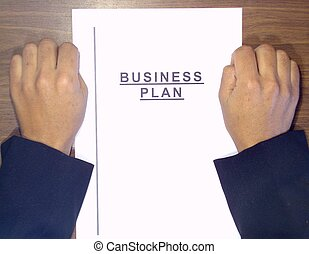 hands over business plan - Man with your hands over business...