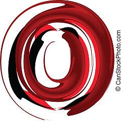 Artistic font letter O