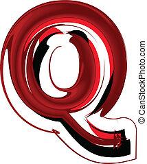 Artistic font letter Q