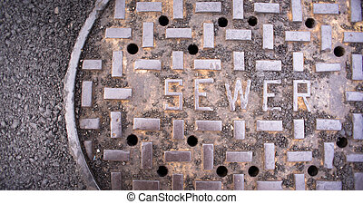 Vanted Manhole Sewer Main Cover Asphalt Side Street Water...