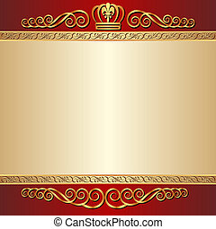 background - red and gold background with ornaments