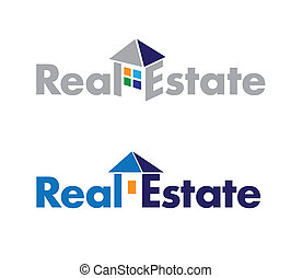 real estate logo - abstract logo on real estate theme Real...