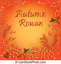 Autumn seamless background with ornament from leaves and...