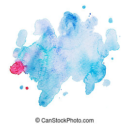 Abstract watercolor aquarelle hand drawn art paint on white background