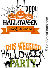 Halloween paty designs - Two Halloween party designs, one...