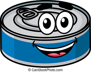 Cartoon happy tin can character - Cartoon happy cute tin can...