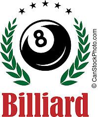 Billiards and snooker emblem
