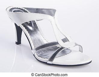 shoe. woman sandal on a background - shoe. woman sandal on...