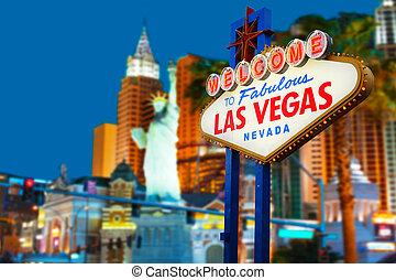 bienvenida, Las, Vegas, señal
