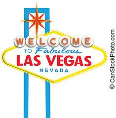 Print - Welcome to Fabulous Las Vegas Neon Sign