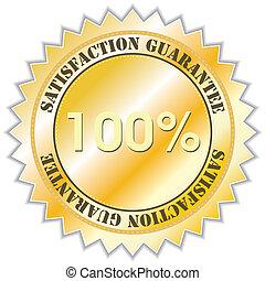 Guarantee label - Satisfaction guarantee label, vector...