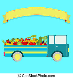 Truck with harvest