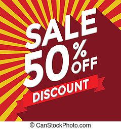 Sale 50% off discount