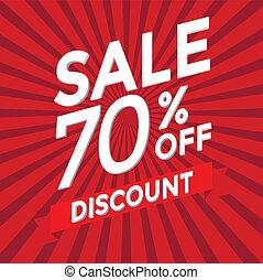 Sale 70 percent off discount vector