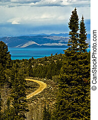Bear Lake View - Bear Lake is located on the Utah/Idaho...