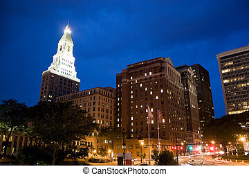 Downtown Hartford - Downtown Harford Connecticut during the...