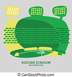 Soccer football stadium graphic vector