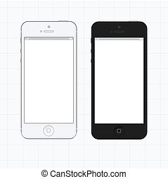 Touch-screen phone template vector