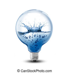 LightBulb With Water Inside