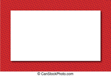 Red Zone Border - A deep red border with a white background.