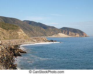 Southern California Coast - Opan Coastline and Pacific Coast...