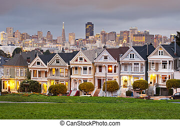 Alamo Square, San Francisco, California, USA
