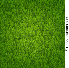 Green grass field, nature background - Illustration green...