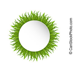 Summer grass circle, go green concept - Illustration summer...