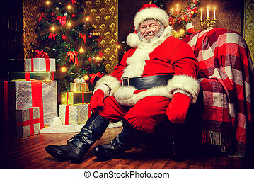 nicholas - Santa Claus brought gifts for Christmas and sat...