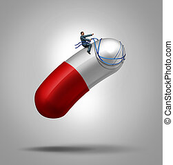 Medication Control - Medication control health care concept...