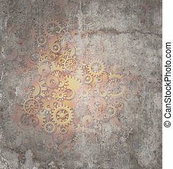 Steampunk Grunge Background - Steampunk grunge background as...