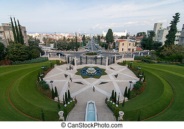 Bahai Gardens - Haifa, Israel - The Bahai Gardens and...