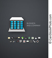 Flat icons set 25 - Flat design modern of brand identity...