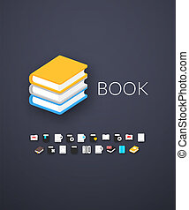 Flat icons set 21 - Flat design modern of brand identity...