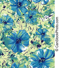 Seamless repeat tropical flower