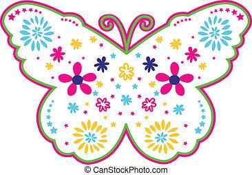 Lovely flower butterfly illustration