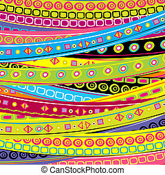 Childish background with stripes and doodle geometrical...