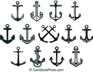 Vintage marine anchors - Antique and vintage marine anchors...