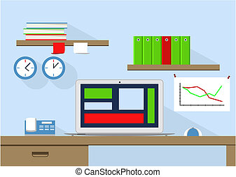 the gallery for gt organized desk clipart