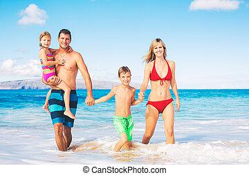 Happy Family at the Beach - Happy Family on the Beach