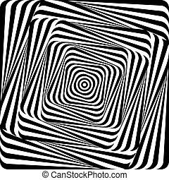 Design whirlpool movement illusion background