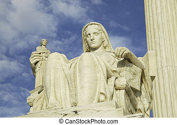 Contemplation of Justice - Statue in front of the United...