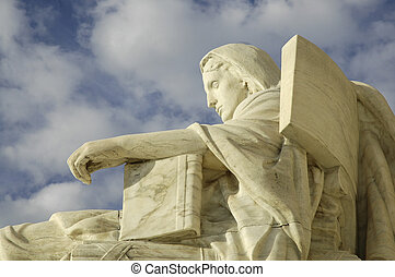 Contemplation of Justice - Statue at United States Supreme...