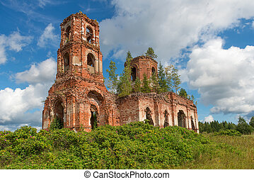 Ruined Church of Our Lady of Kazan Village Russian Noviki...